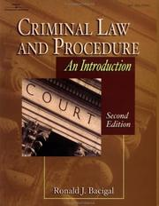 Cover of: Criminal law and procedure
