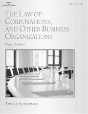 Cover of: The law of corporations and other business organizations
