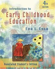 Cover of: Introduction to early childhood education
