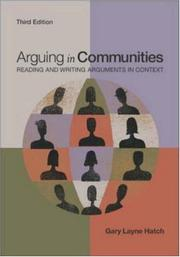Cover of: Arguing in communities