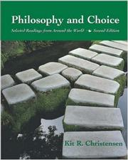 Cover of: Philosophy and choice |