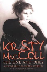 Cover of: Kirsty MacColl: The One and Only | Karen O'Brien