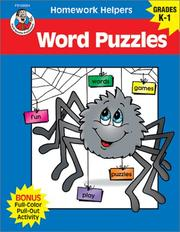 Cover of: Homework Helper Word Puzzles, Grades K to 1 (Homework Helpers) | School Specialty Publishing