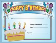 Happy Birthday Award by School Specialty Publishing