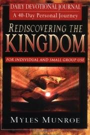 Cover of: Rediscovering the Kingdom Devotional And Journal