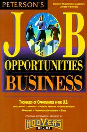 Cover of: Job Opportunities for Business Majors 00 | Peterson's