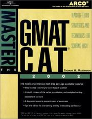 Cover of: Master the GMAT CAT, 2002/e (Master the Gmat Cat, 2002)