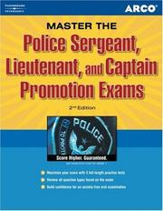 Cover of: Police sergeant, lieutenant, and captain promotion exams | Francis M. Connolly