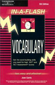 Cover of: Vocabulary