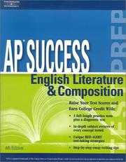 Cover of: AP Success: English Lit and Comp, 4E (Ap Success : English Literature & Composition) | Peterson