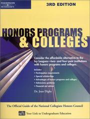 Cover of: Honors programs & colleges | Joan Digby