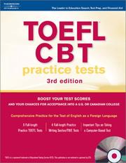Cover of: TOEFL CBT Practice Tests w/CD 2004 (Toefl Cbt Practice Tests) | Peterson