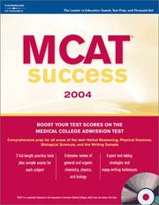 Cover of: MCAT Success 2004 (w/CD) | Peterson