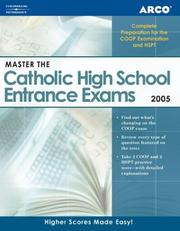 Cover of: Master the Catholic HS EntranceExam 2005 (Master the Catholic High School Entrance Examinations)