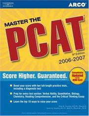 Cover of: Master the PCAT 2006, 9th edition