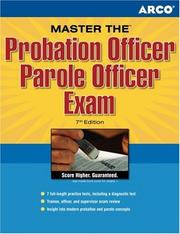 Cover of: Master the Probation Officer/Parole Officer, 7rd edition