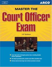 Cover of: Master Court Officer Exam, 10th edition | Steinberg & Goffen