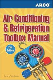 Cover of: Air Conditioning and Refrigeration Toolbox Manual | David Tenebaum
