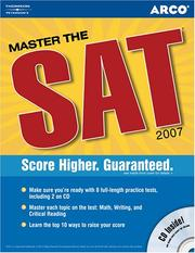 Cover of: Master the SAT, 2007/e w/CD-ROM | Pine
