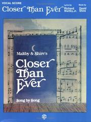 Cover of: Closer Than Ever | David Shire