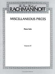 Cover of: Rachmaninoff / Miscellaneous Pieces