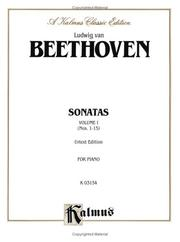 Cover of: Beethoven / Sonatas