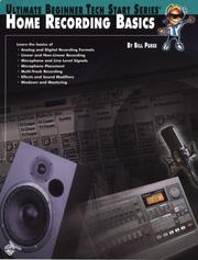 Cover of: Home Recording Basics