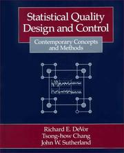 Cover of: Statistical quality design and control