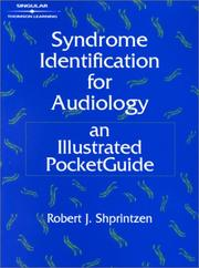 Cover of: Syndrome Identification for Audiology | Robert J. Shprintzen