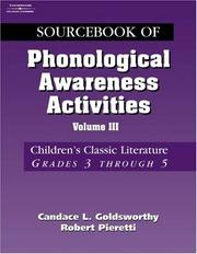 Cover of: Sourcebook of phonological awareness activities | Candace L. Goldsworthy