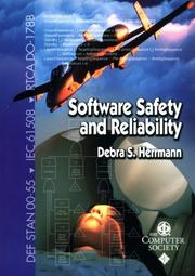 Cover of: Software Safety and Reliability