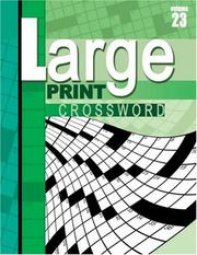 Cover of: Large Print Crossword Puzzle Book | School Specialty Publishing