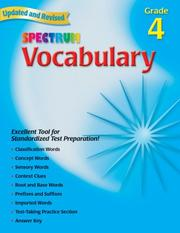 Cover of: Spectrum Vocabulary, Grade 4 (Spectrum) | School Specialty Publishing