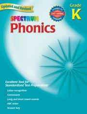 Cover of: Spectrum Phonics, Kindergarten | School Specialty Publishing