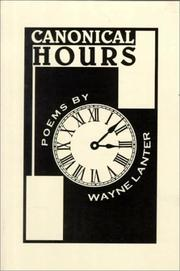 Cover of: Canonical hours