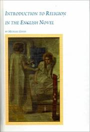 Cover of: Introduction to religion in the English novel
