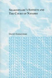 Cover of: Shakespeare's sonnets and the court of Navarre