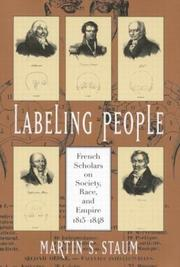 Cover of: Labeling people
