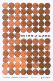 Cover of: The Canadian Quandary | Harry G. Johnson