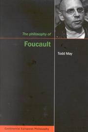 Cover of: Philosophy of Foucault (Continental European Philosophy Series) | Todd May