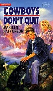 Cover of: Cowboys don't quit