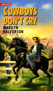 Cover of: Cowboys Don't Cry (Gemini Books (Toronto, Ont.).)