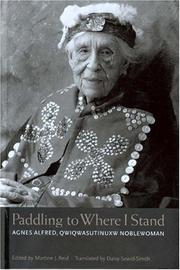 Cover of: Paddling to where I stand | Agnes Alfred