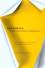 Cover of: Redrawing Local Government Boundaries | John Meligrana