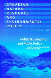 Cover of: Canadian Natural Resource and Environmental Policy