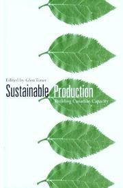 Cover of: Sustainable Production | Glen Toner