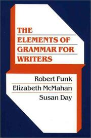 Cover of: Elements of Grammar for Writers, The | Robert Funk
