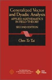 Cover of: Generalized vector and dyadic analysis