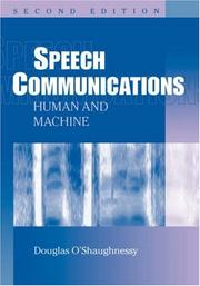 Cover of: Speech communications