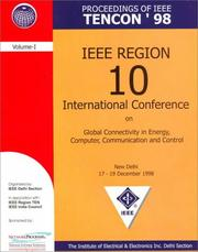 Cover of: Proceedings of IEEE Tencon